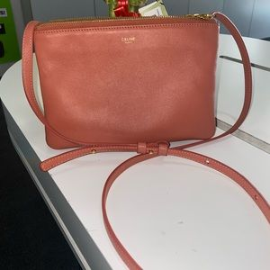 Final sale Celine trio leather crossbody